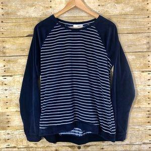 Sonoma Pajama Top Navy w/ White Stripes